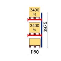 Pallställ följesektion 3975x1150 3400kg/3 pallar