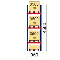 Pallställ startsektion 4500x950 3500kg/4 pallar