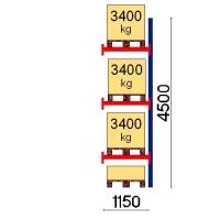 Pallställ följesektion 4500x1150 3400kg/4 pallar