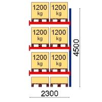 Pallställ följesektion 4500x2300 1200kg/8 pallar
