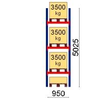 Pallställ startsektion 5025x950 3500kg/4 pallar