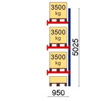 Pallställ följesektion 5025x950 3500kg/4 pallar