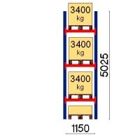 Pallställ startsektion 5025x1150 3400kg/4 pallar