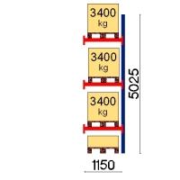 Pallställ följesektion 5025x1150 3400kg/4 pallar