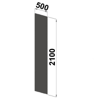 Gavelplåt 2100x500