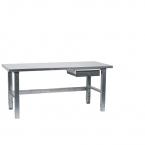 Arbetsbord 1500x800, ståltopp