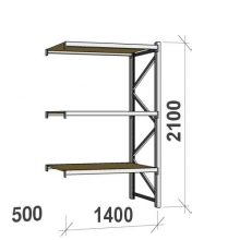 Extension bay 2100x1400x500 600kg/level,3 levels with chipboard