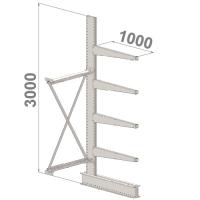 Grenställ följesektion 3000x1500x1000,4 x arm