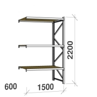 Extension bay 2200x1500x600 600kg/level,3 levels with chipboard