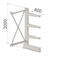 Grenställ följesektion 2000x1500x800,3 x arm