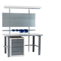 Workstation 2000x800 with steel top
