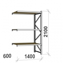 Extension bay 2100x1400x600 600kg/level,3 levels with chipboard