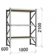 Starter bay 2100x1800x600 480kg/level,3 levels with chipboard