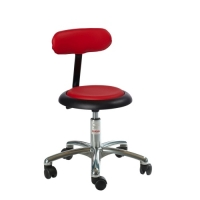 Stool Micro-Alu50 with backrest height 450-580 mm