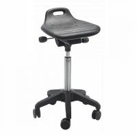 Saddle stool Omega Octopus PU w/castors