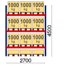 Pallställ startsektion 4500x2700 1000kg/12 pallar OPTIMA