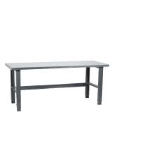 Workbench 1500x800, metal top, painted legs