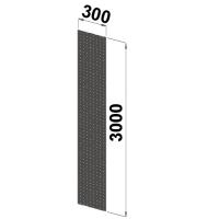 Perforerad tät gavel 3000x300
