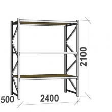Starter bay 2100x2400x500 300kg/level,3 levels with chipboard