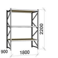 Lagerhylla startsektion 2200x1800x900 480kg/hyllplan,3 hyllor, spånskiva