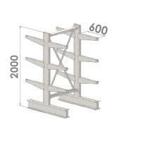 Grenställ startsektion 2000x15000x2x600,12 x arm