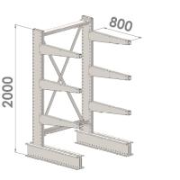 Grenställ startsektion 2000x1500x800,6 x arm