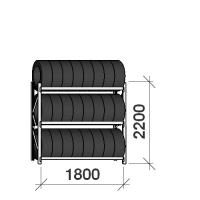 Däckställ startsektion 2200x1800x500, 3 hyllplan