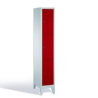 3-tier locker, 3 doors, 1850x320x500 mm