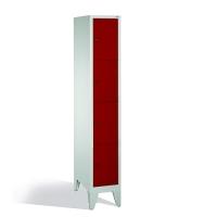 4-tier locker, 4 doors, 1850x320x500 mm