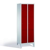 3-tier locker, 6 doors, 1850x610x500 mm