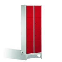 4-tier locker, 8 doors, 1850x610x500 mm