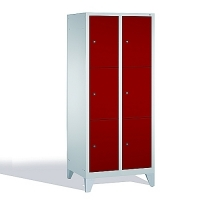 3-tier locker, 6 doors, 1850x810x500 mm