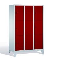3-tier locker, 9 doors, 1850x1200x500 mm