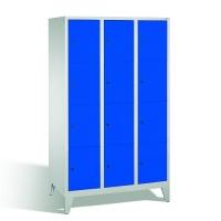 4-tier locker, 12 doors, 1850x1200x500 mm