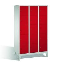 5-tier locker, 15 doors, 1850x1200x500 mm