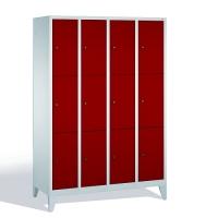 3-tier locker, 12 doors, 1850x1190x500 mm