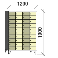 10-tier locker, 40 doors, 1900x1200x545 mm