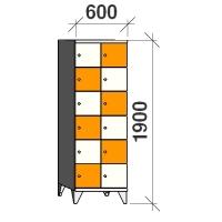Klädskåp, 12 dörrar, 1900x600x545 mm