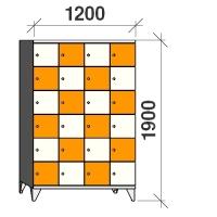 Klädskåp, 24 dörrar, 1900x1200x545 mm