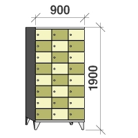 8-tier locker, 24 doors, 1900x900x545 mm