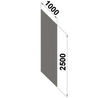 Perforerad ryggplåt 2500x1000