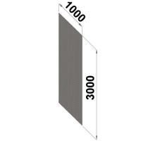 Perforerad ryggplåt 3000x1000