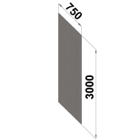 Perforerad ryggplåt 3000x750