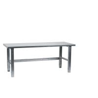 Workbench 1500x800, metal top, galv. legs