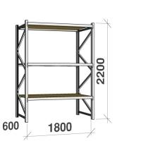 Lagerhylla startsektion 2200x1800x600 480kg/hyllplan,3 hyllor, spånskiva