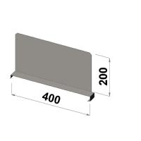 Hyllavdelare 400x200 zn