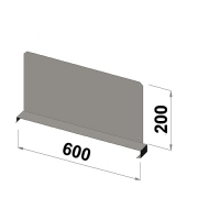 Hyllavdelare 600x200 zn