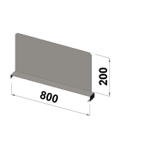 Hyllavdelare 800x200 zn