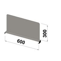 Hyllavdelare 600x300 zn