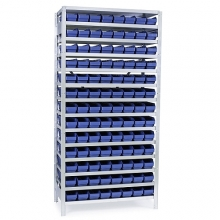 Box shelf 2100x1000x500, 104 boxes 500x120x95
